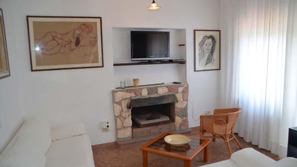 Ferienhaus La Cantoniera Wohnbereich