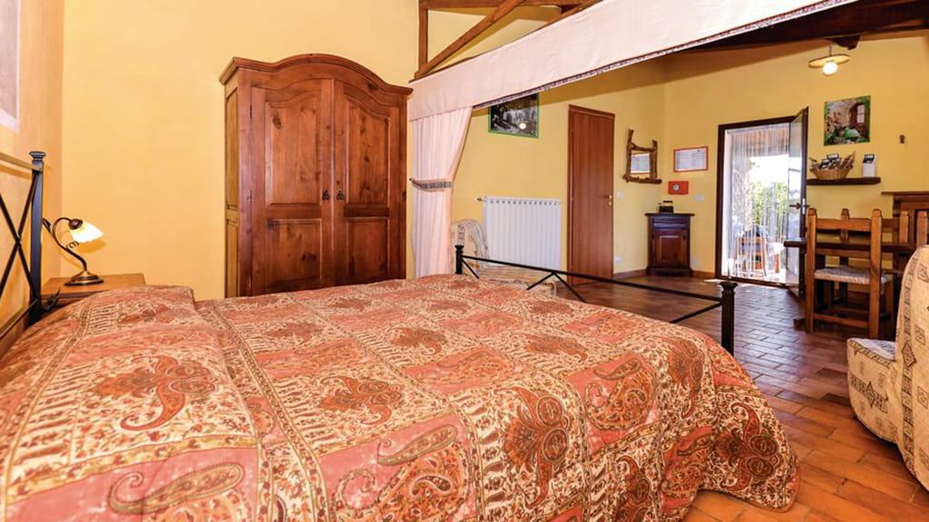 Ferienhaus Poderebello Pitigliano Schlafzimmer