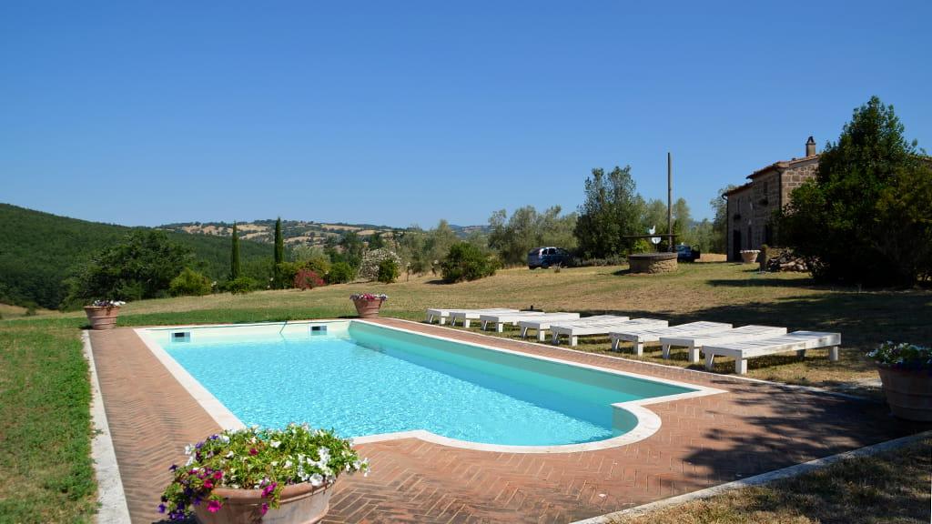Gruppenreise Toskana Ferienhaus Großer Pool
