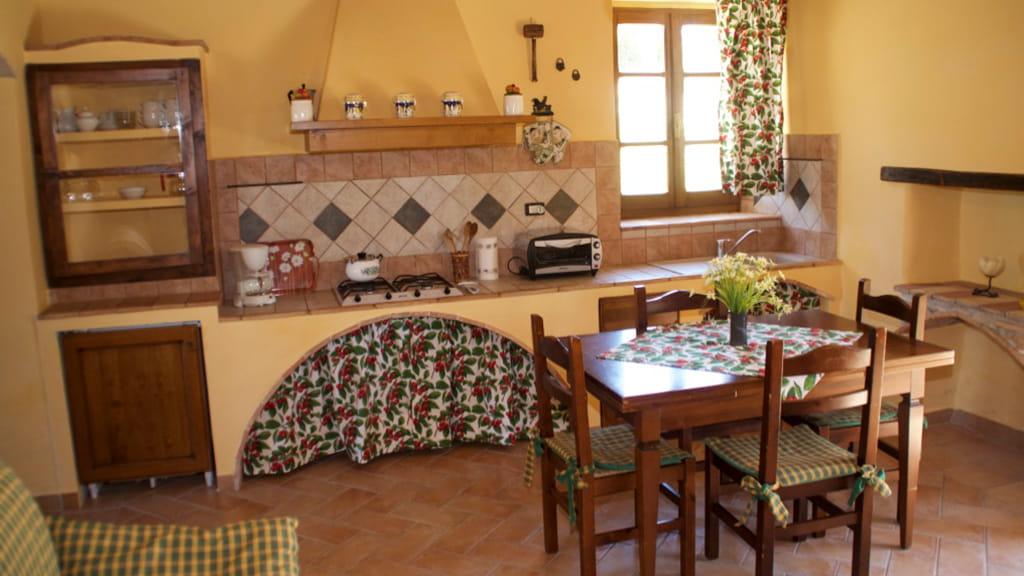 Landhaus Toskana Cantinaccia Kueche