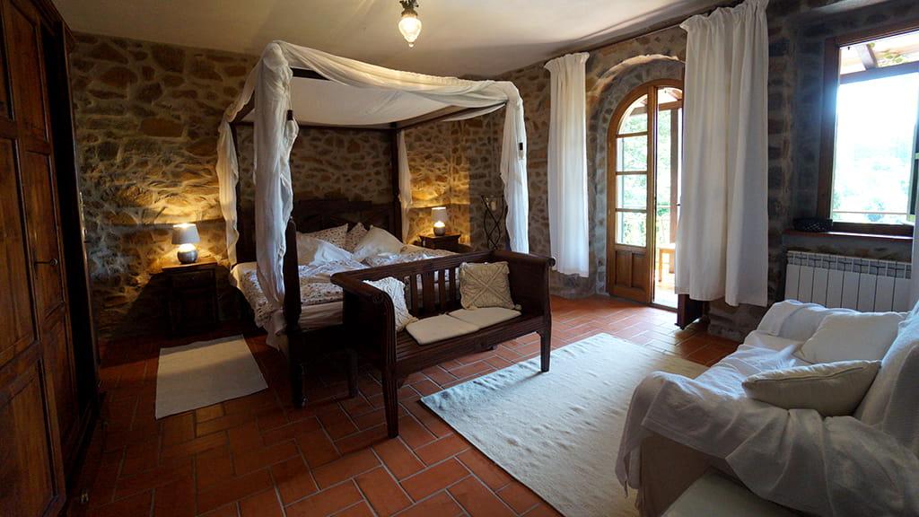 Schlafzimmer Villa Bistoni Toskana