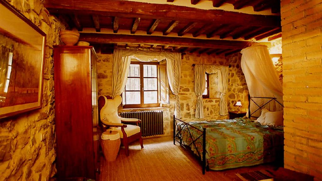 Villa Dondolini Schlafzimmer