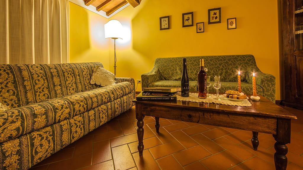 Villa La Guardata Wohnzimmer