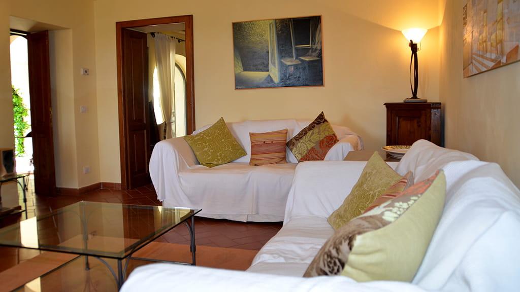Villa Lupinaio Wohnzimmer