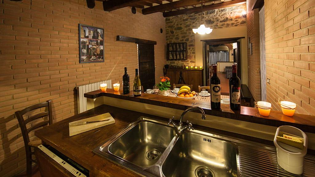 Borgo San Stefano Kueche Wohnung