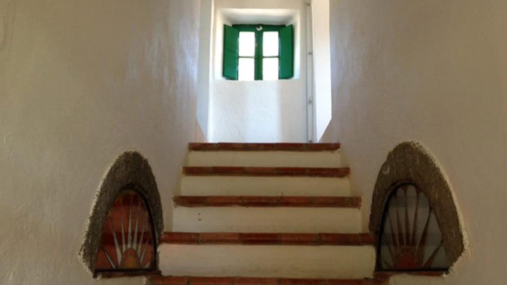 Ferienhaus Roggiai Treppenaufgang