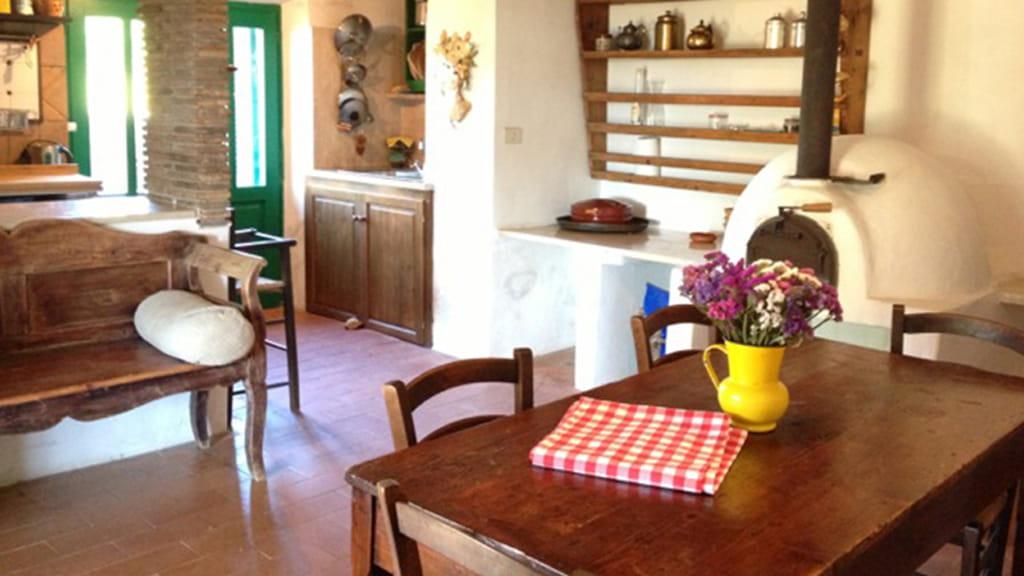 Ferienhaus Roggiai Wohnbereich