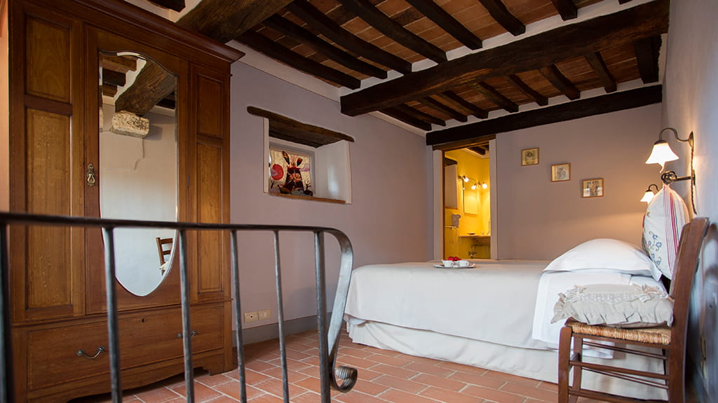 Ferienhaus Rosa Uno Schlafzimmer