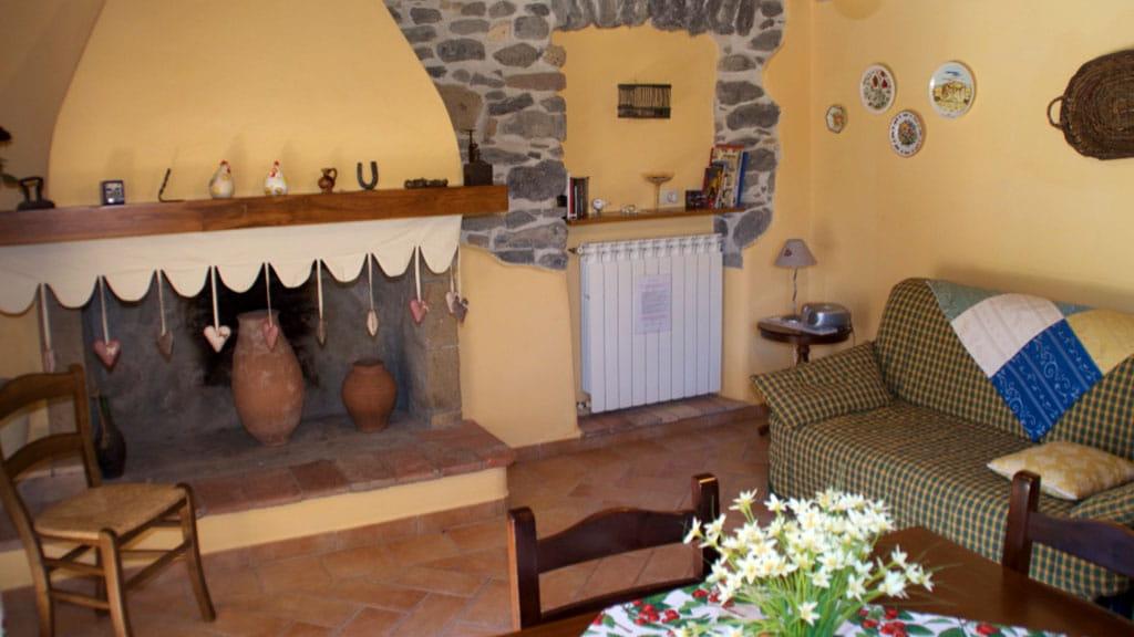 Ferienwohnung Cantinaccia Gialla Wohnbereich
