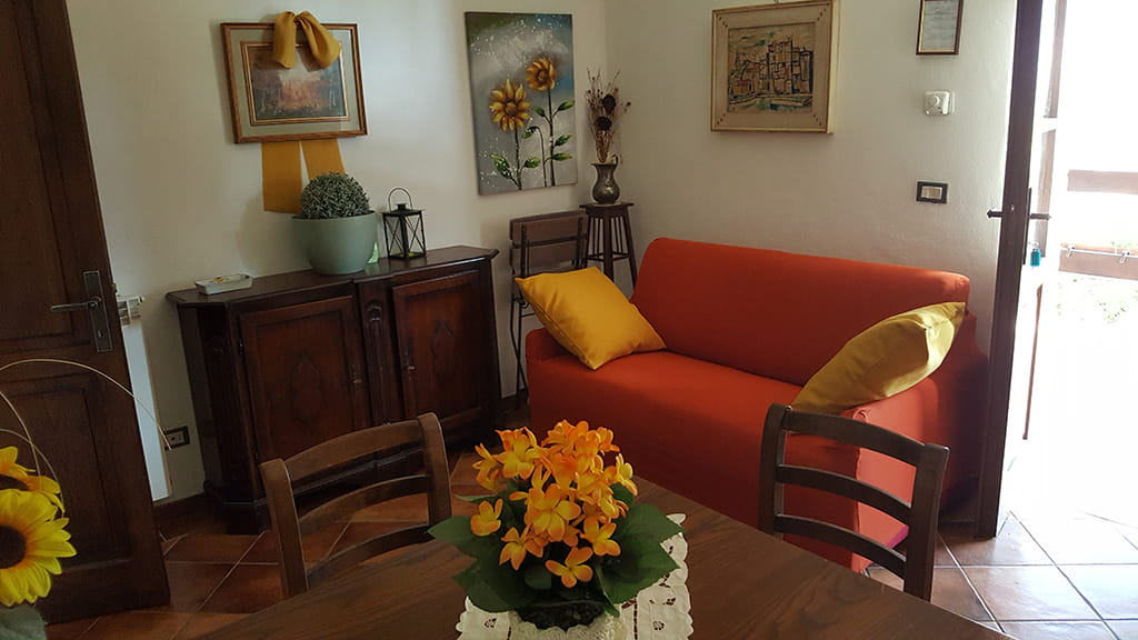 Ferienwohnung Marrucheti Quattro Wohnbereich