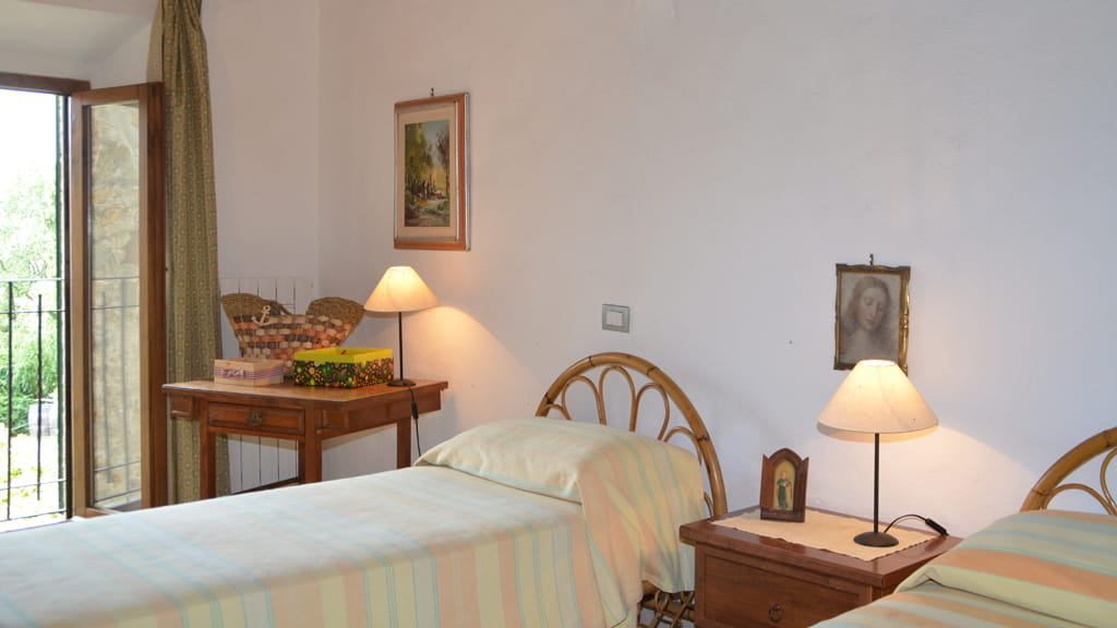 Ferienwohnung Torre Di Poggialberi Schlafzimmer Toskana
