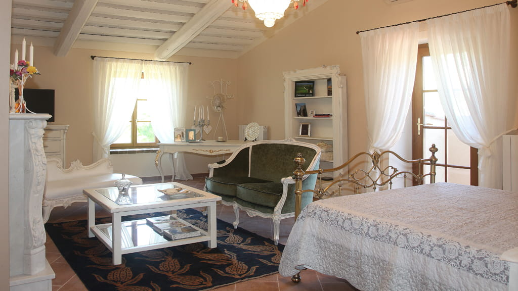 Villa Cerbaina Schlafzimmer