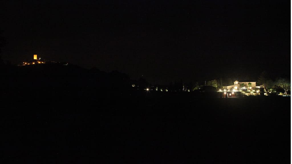 Villa Cerbaina Bei Nacht