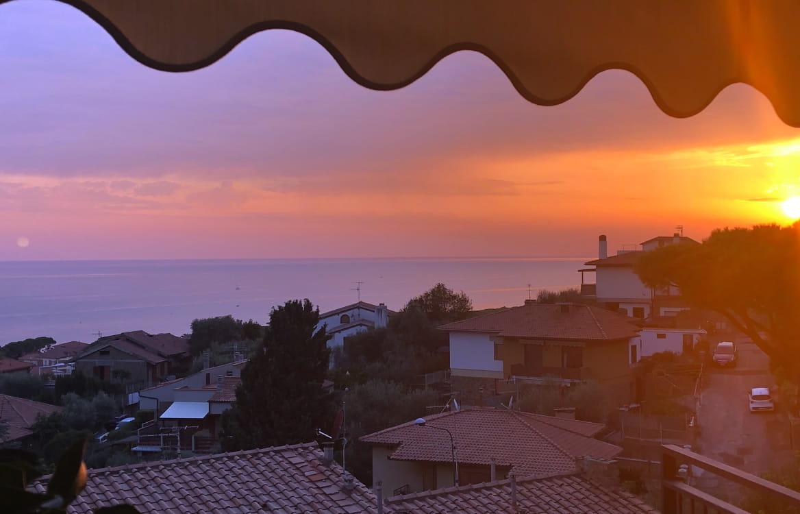 Sonnenuntergang Ferienwohnung Castiglione