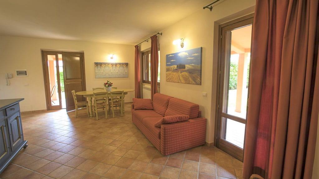 Villa Ninfea Therme Toskana Wohnzimmer