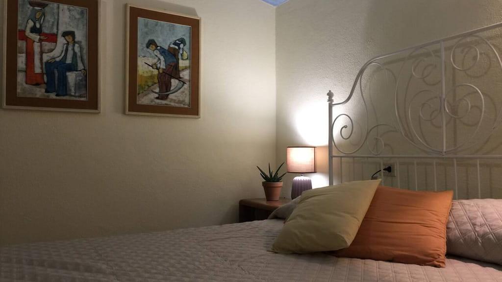 Schlafzimmer Villa Vetulonia Toskana