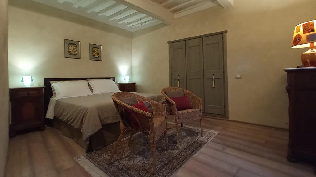 Ferienwohnung Toskana Schlafzimmer